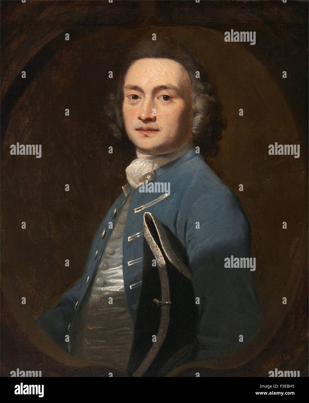 Sir Joshua Reynolds - An Unknown Man - Stock Image