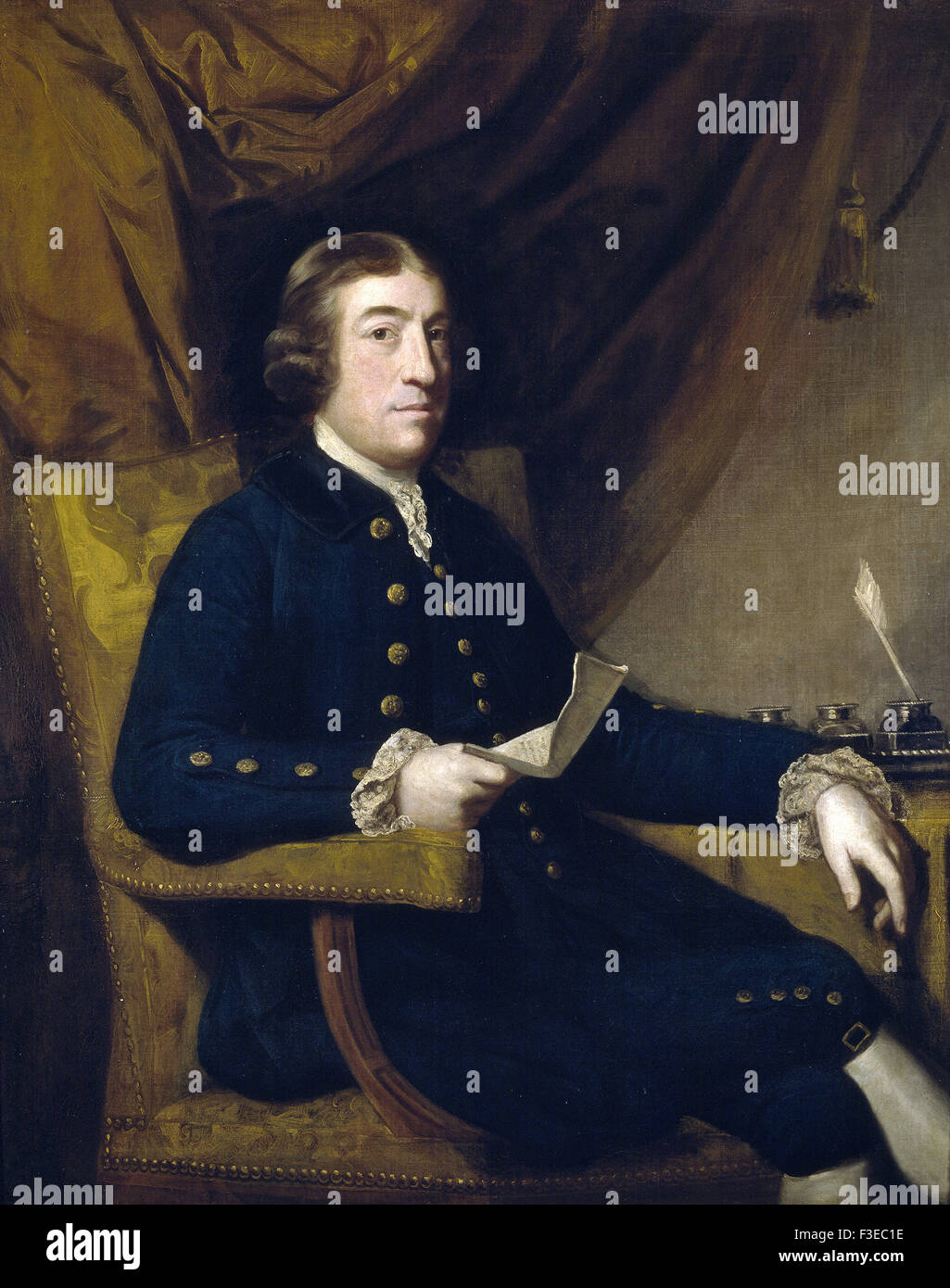 Sir Joshua Reynolds - Mr. James Bourdieu - Stock Image