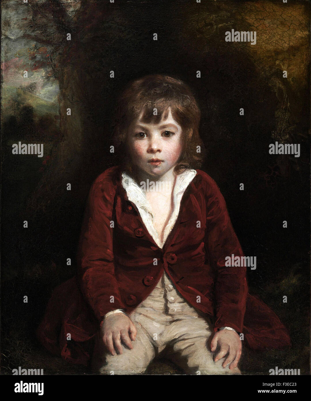Sir Joshua Reynolds - Portrait of Master Bunbury - Stock Image
