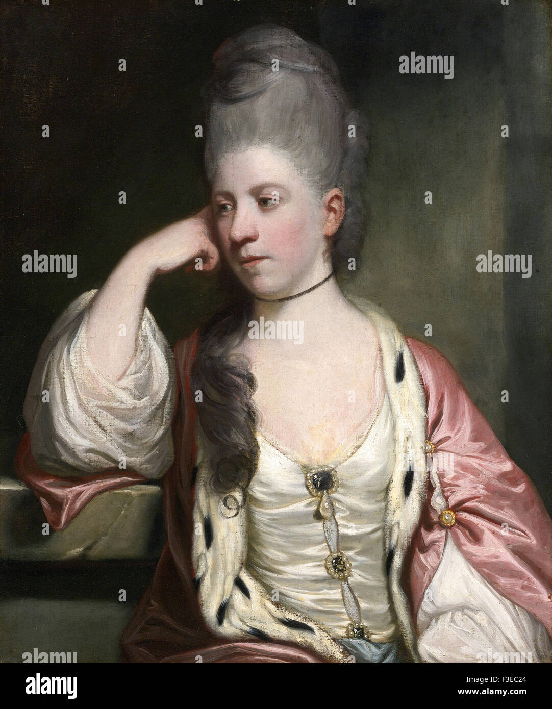 Sir Joshua Reynolds - Portrait of Miss Anne Mead - Stock Image