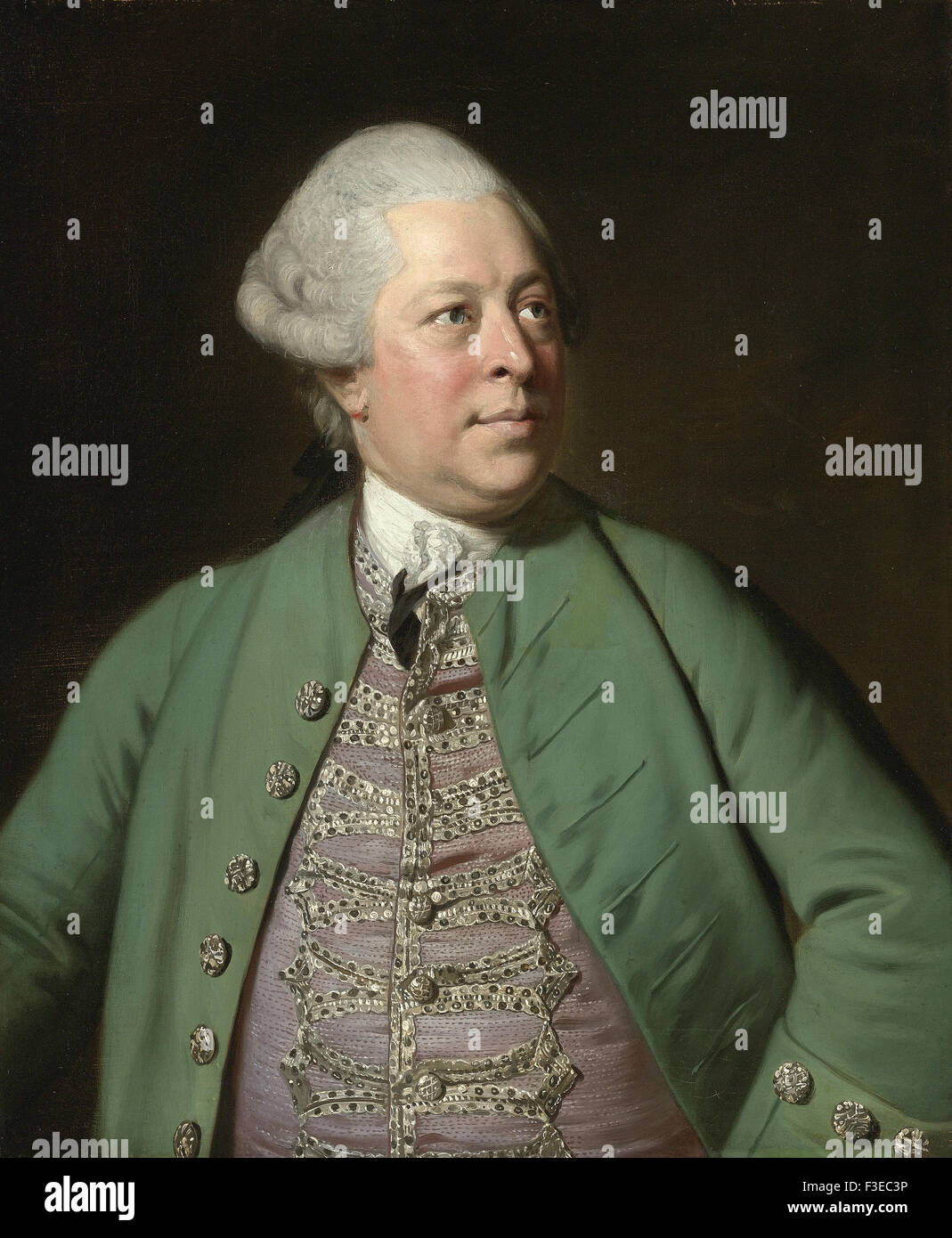Sir Joshua Reynolds - Portrait of Edward Holden Cruttenden - Stock Image