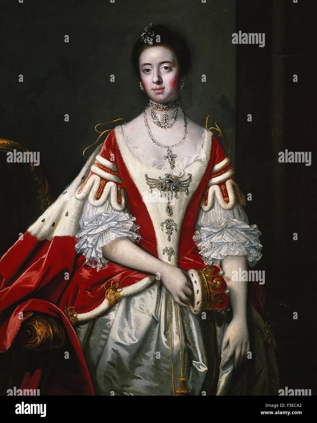 Sir Joshua Reynolds - Frances, Countess of Dartmouth - Stock Image