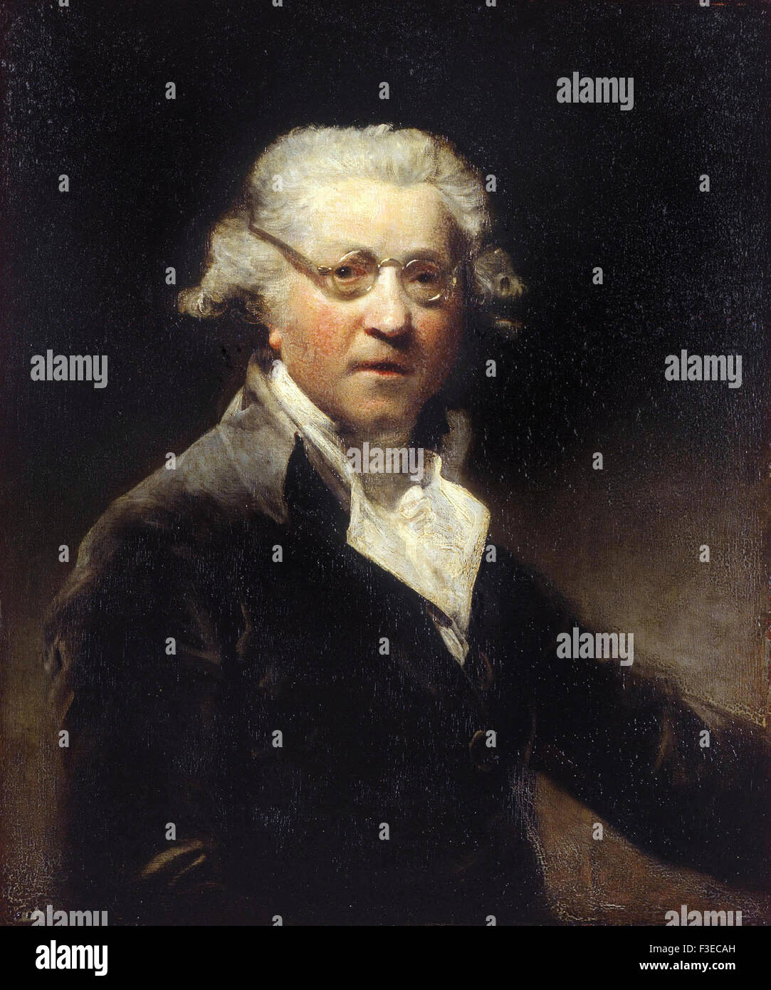 Sir Joshua Reynolds - Self portrait - Stock Image