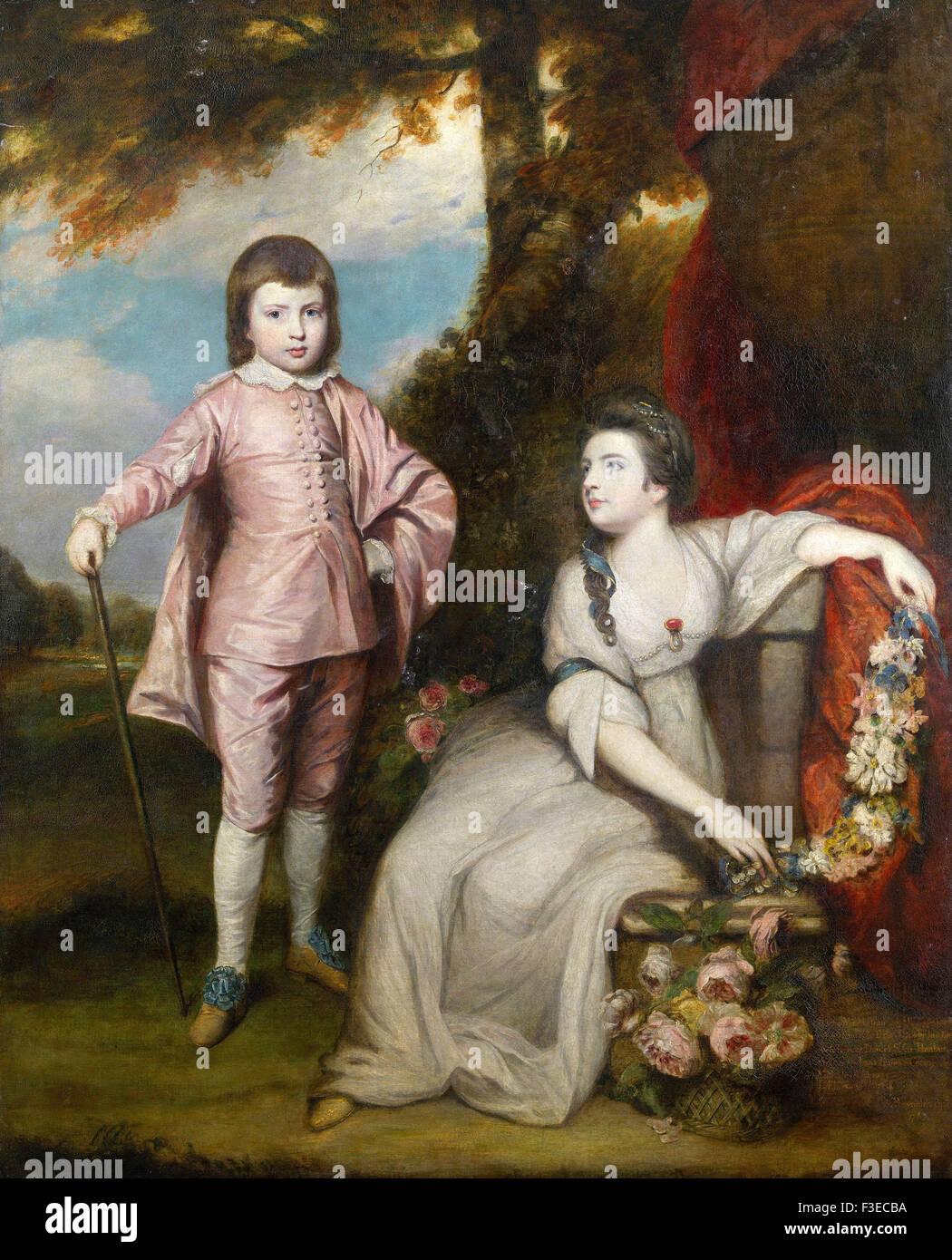 Sir Joshua Reynolds - George Capel, Viscount Malden and Lady Elizabeth Capel - Stock Image