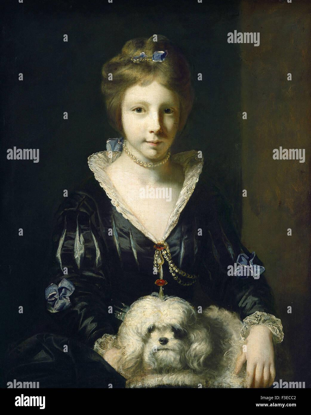 Sir Joshua Reynolds - Miss Beatrix Lister - Stock Image