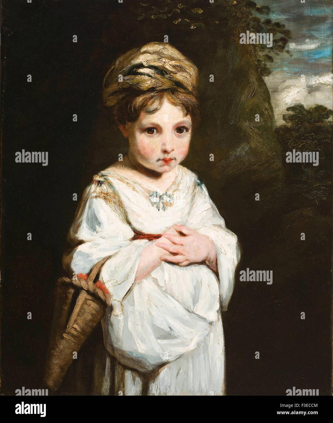 Sir Joshua Reynolds - The Strawberry Girl - Stock Image