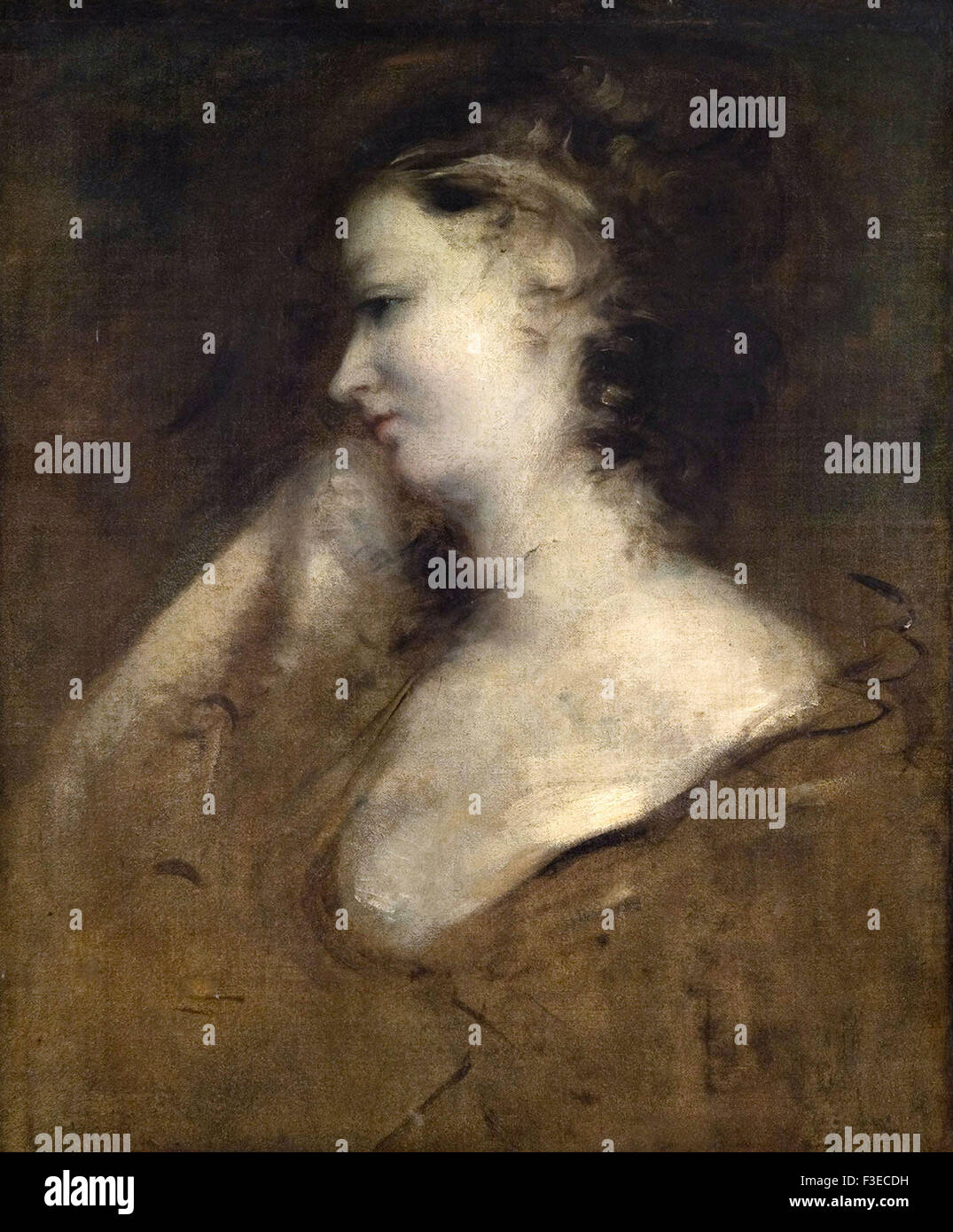 Sir Joshua Reynolds - Portrait of a Lady - Stock Image