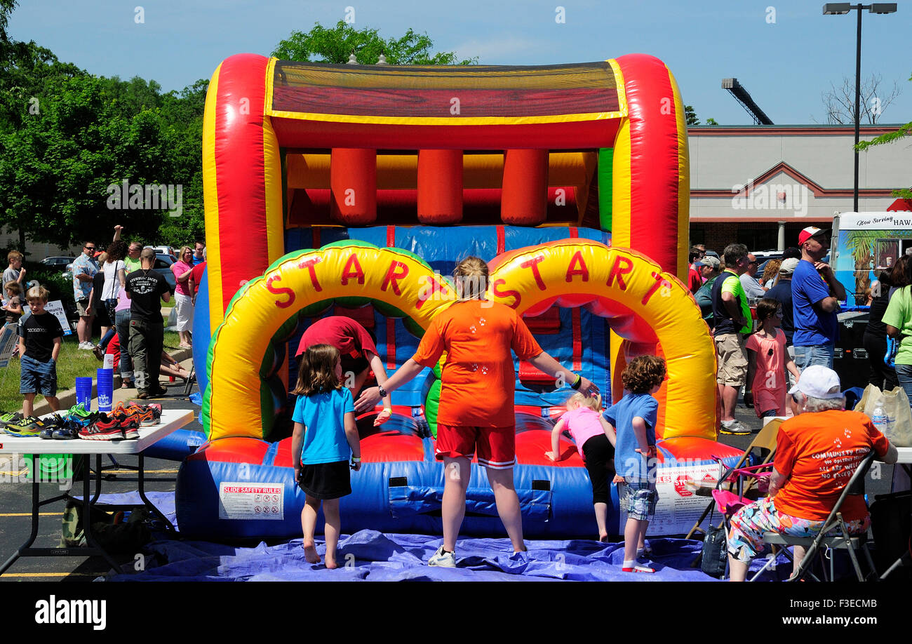 Inflatable Bounce Castle Stock Photos & Inflatable Bounce