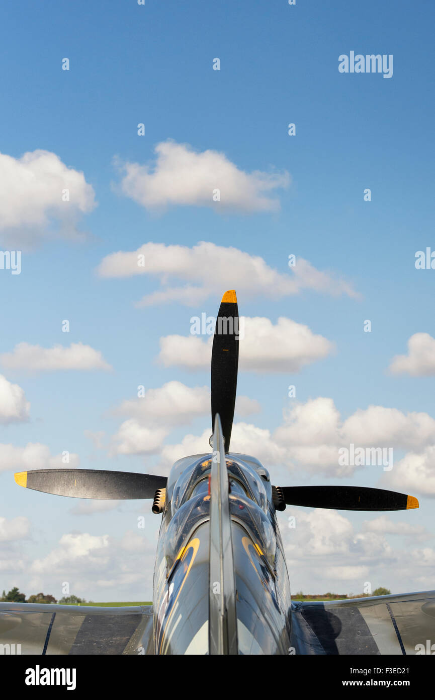 The Grace Spitfire ML407 at Sywell Aerodrome, Northampton, England - Stock Image