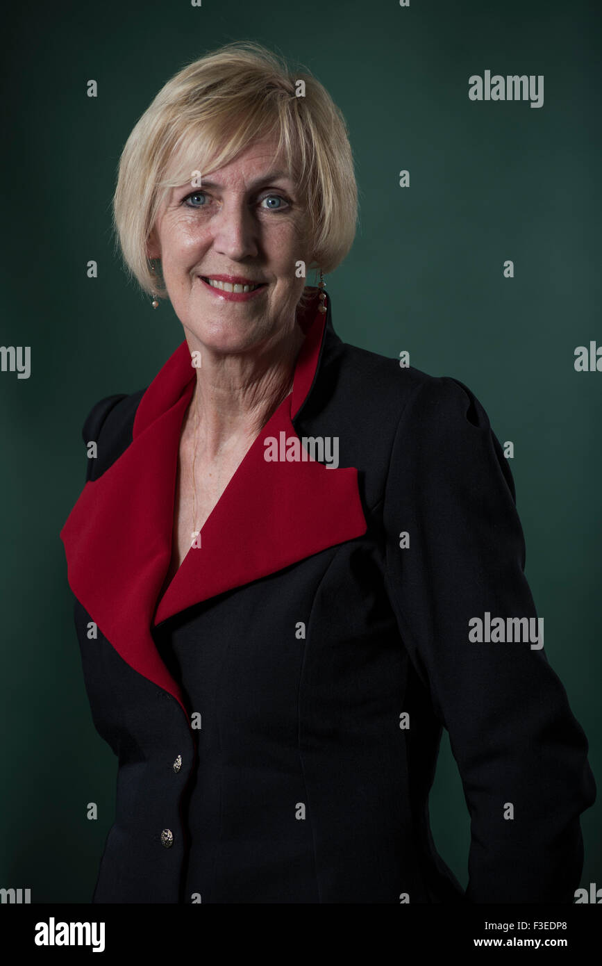 Crime novelist and screenwriter Lin Anderson. - Stock Image