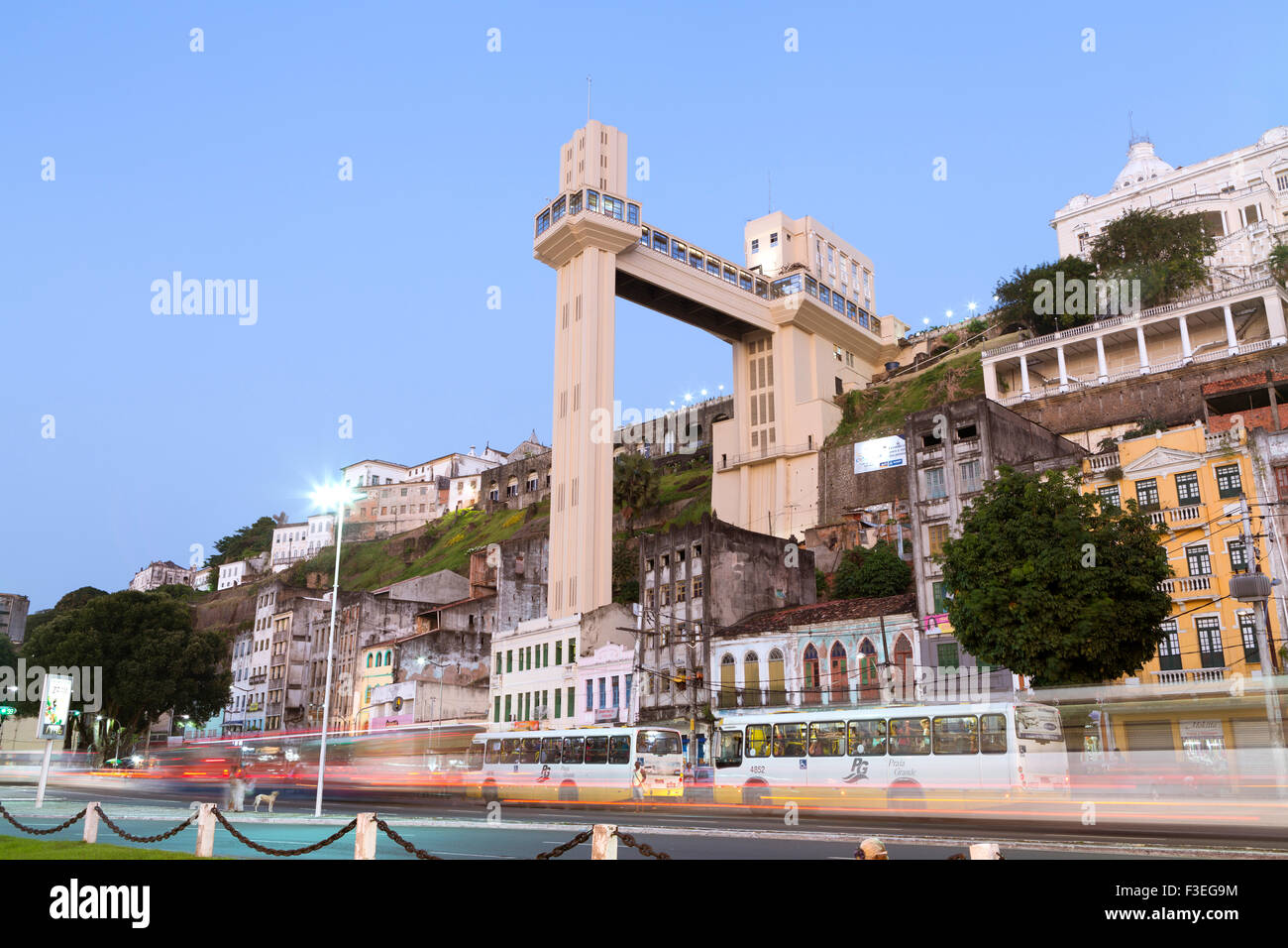 The Lacerda elevator (lift) in Salvador, Bahia, Brazil - Stock Image