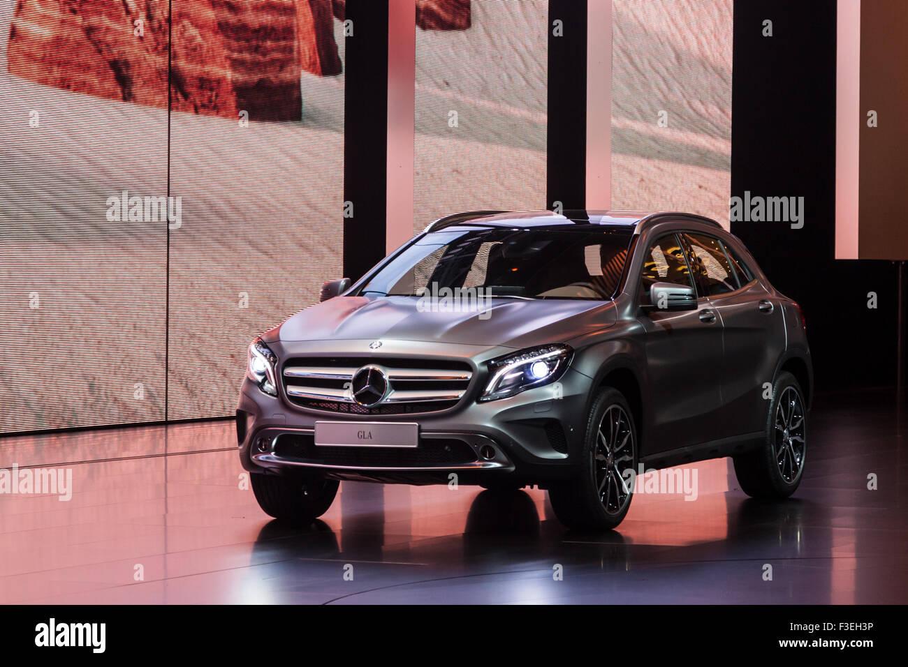 Mercedes Benz GLA  at the IAA International Motor Show 2015 - Stock Image