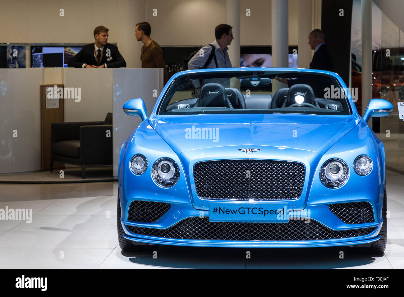 Bentley GTC Speed Luxury Convertible at the IAA International Motor Show 2015 - Stock Image
