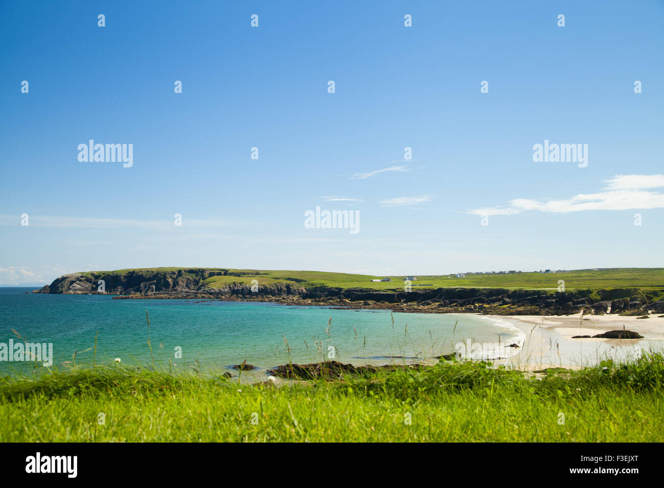 The beach at Port of Ness, Ness,  Isle of Lewis, Outer Hebrides,  Scotland,  United Kingdom. - Stock Image