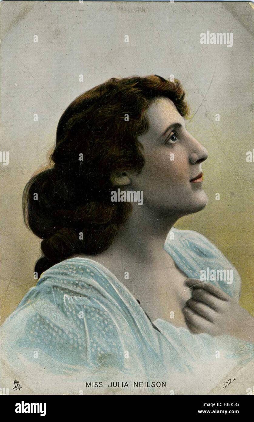 Tuck's postcard actress Julia Nielson - Stock Image
