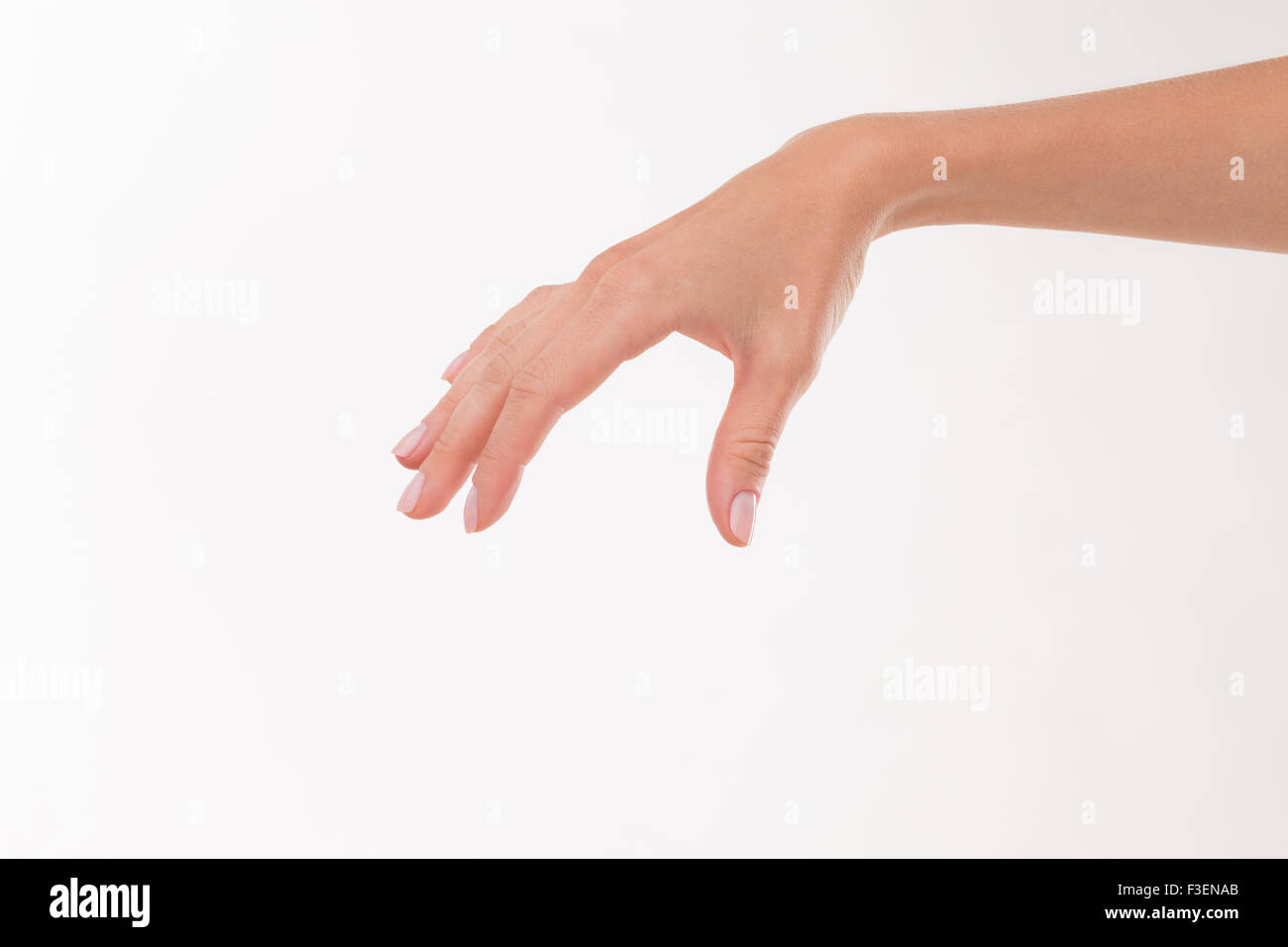 ecfe26519b40d Woman's hand as if holding something Stock Photo: 88219891 - Alamy