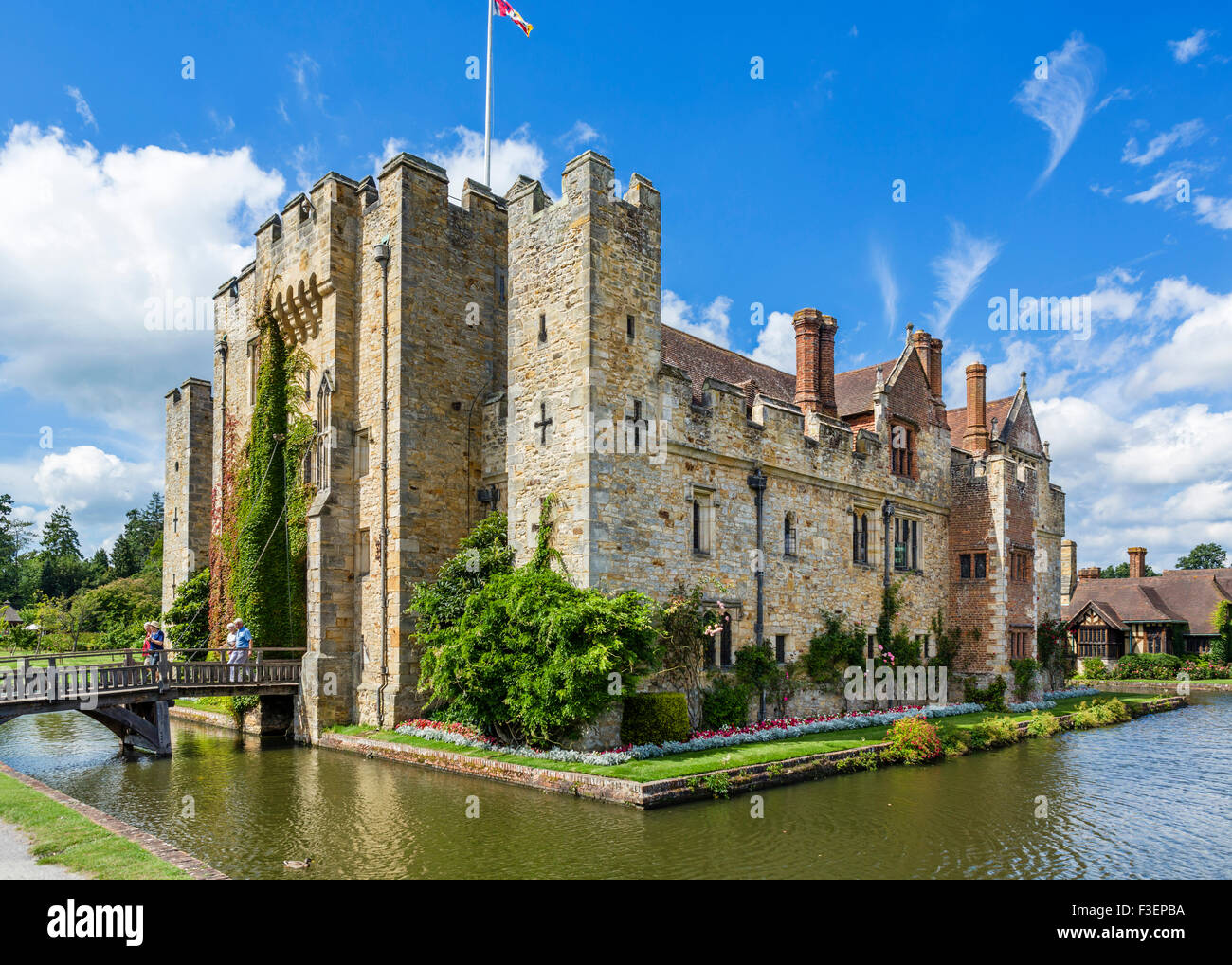 Hever Castle, family home of Anne Boleyn, Hever, Kent, England, UK - Stock Image