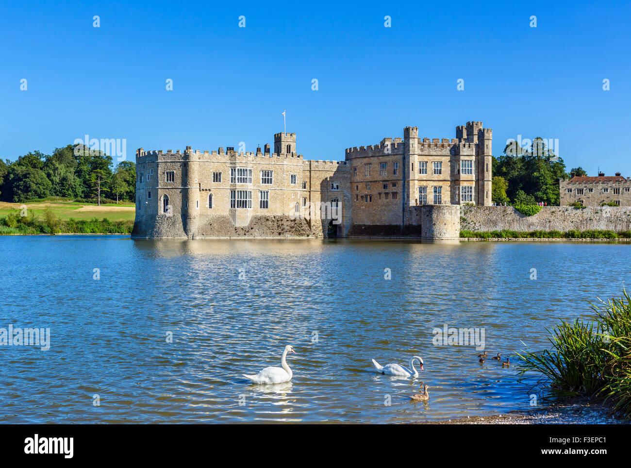 Leeds Castle, near Maidstone, Kent, England, UK - Stock Image
