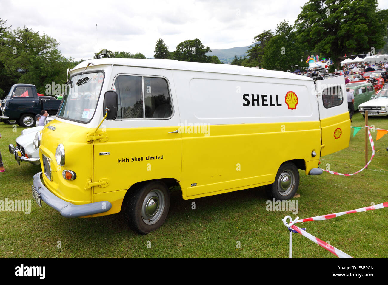 ea9ef80d876fbc Austin Morris Commercial J4 van in retro Shell livery at Kilbroney classic  car show