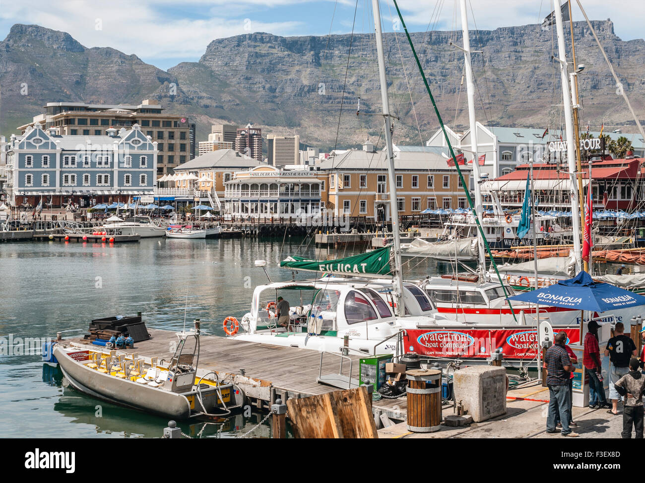 Cape Town Alfred Quay Waterfront Area, South Africa | Alfred Quay Waterfront, Kapstadt, Suedafrika - Stock Image