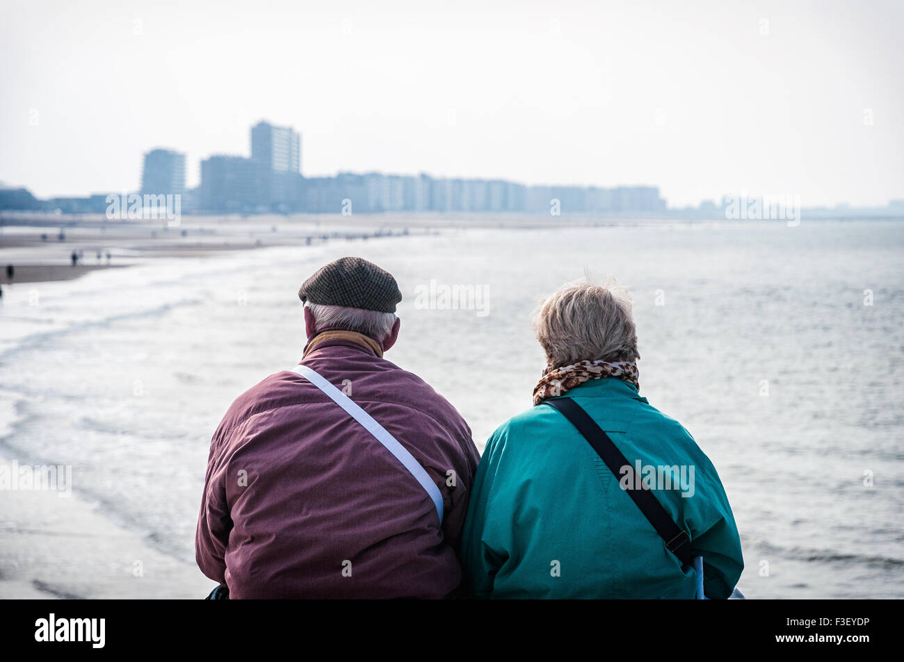 Old couple in Ostend - Stock Image