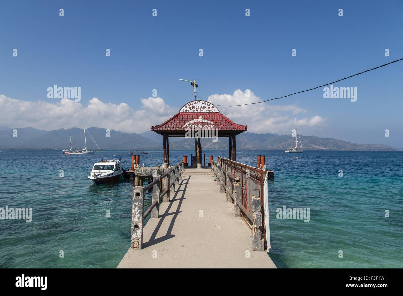 Gili Air jetty - Stock Image