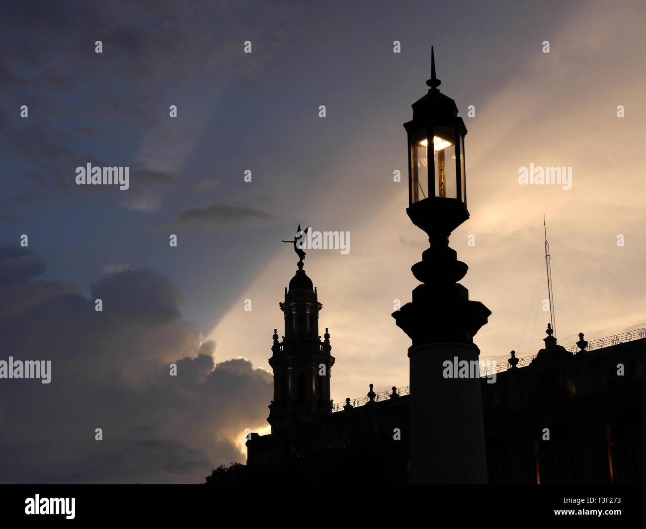 Rooftop Inglaterra Hotel Havana - Stock Image