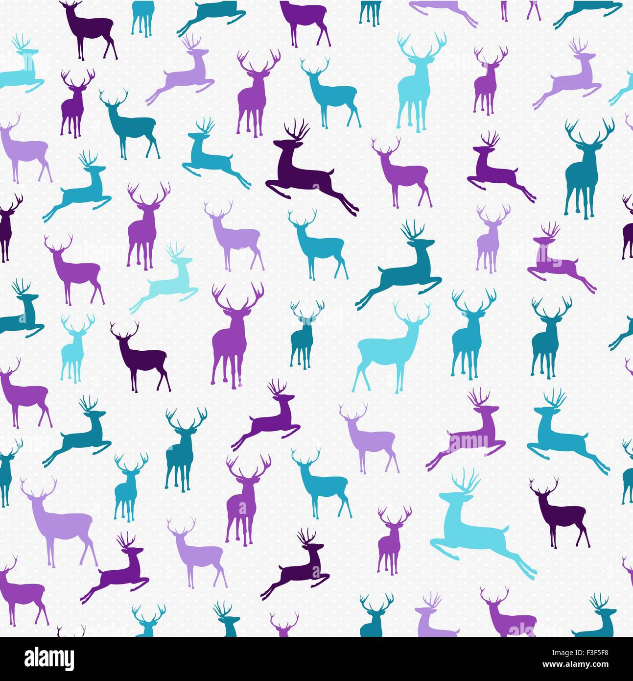 Merry Christmas Hipster Reindeer Seamless Pattern Background Ideal For Holiday Greeting Card Wrapping Paper Or Xmas Campaign