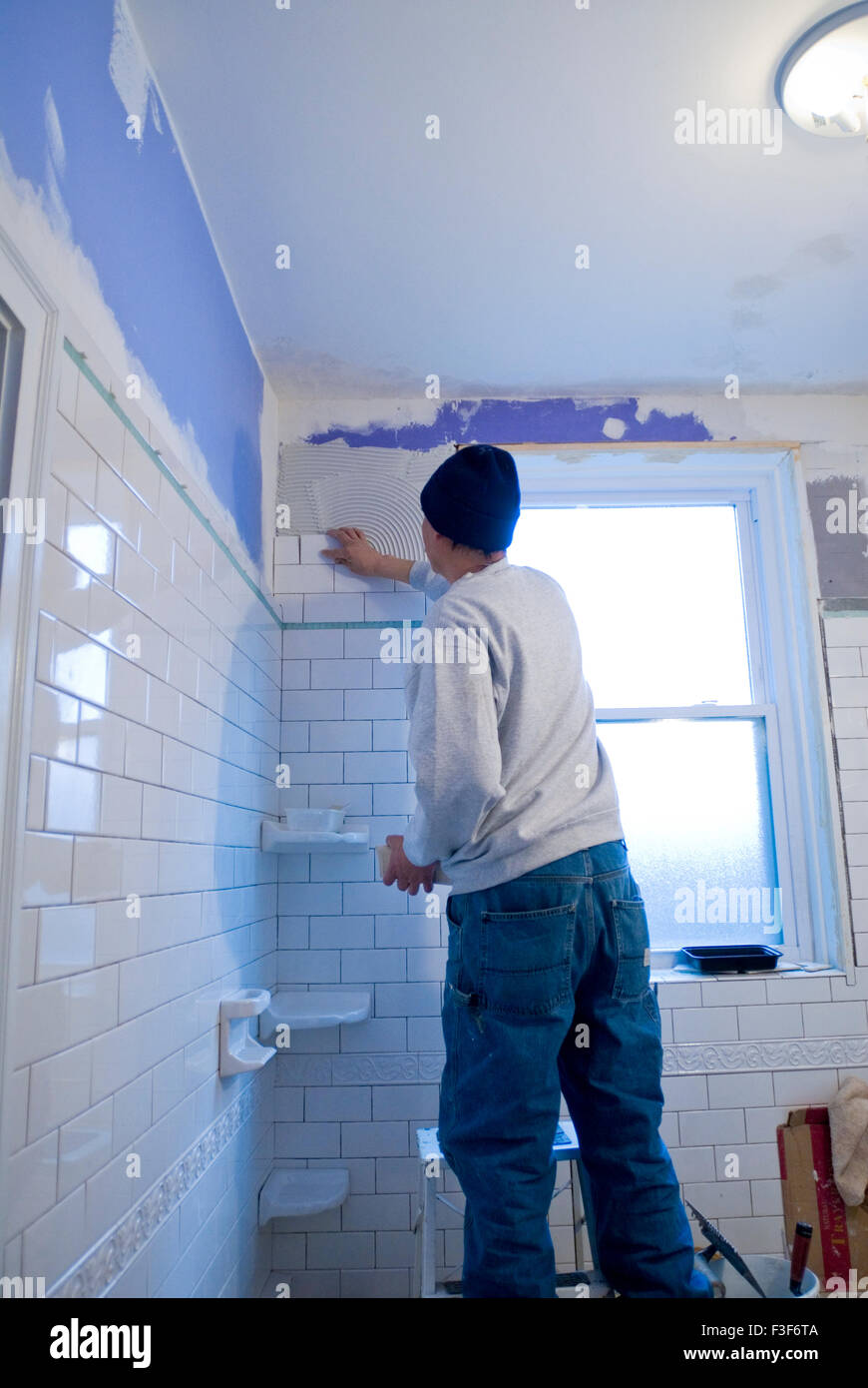 Bathroom Wall Tiles Stock Photos & Bathroom Wall Tiles Stock Images ...