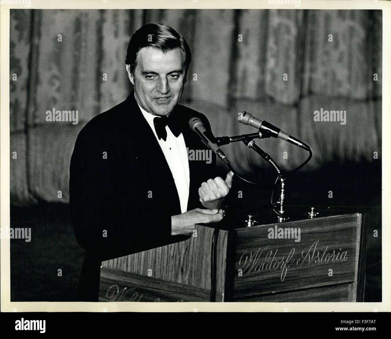 1978 - Tribute to Hubert Humphrey dinner, Waldorf Ast 626/78-benefiting the Hubert H. Humphrey Institute of Public - Stock Image