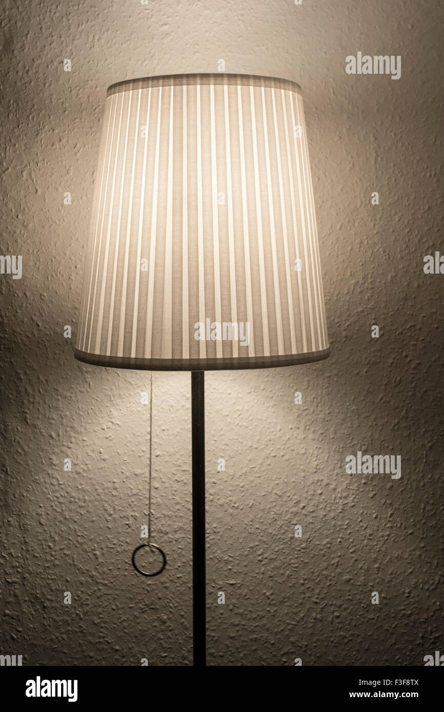 Living room lamp - Stock Image