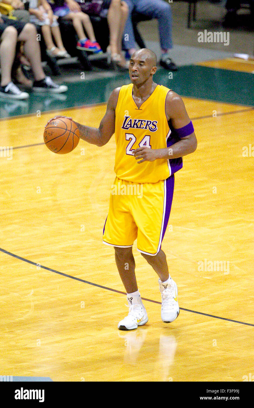 the latest 6be53 2b6c1 October 4, 2015 - Los Angeles Lakers guard Kobe Bryant  24 surveys the court