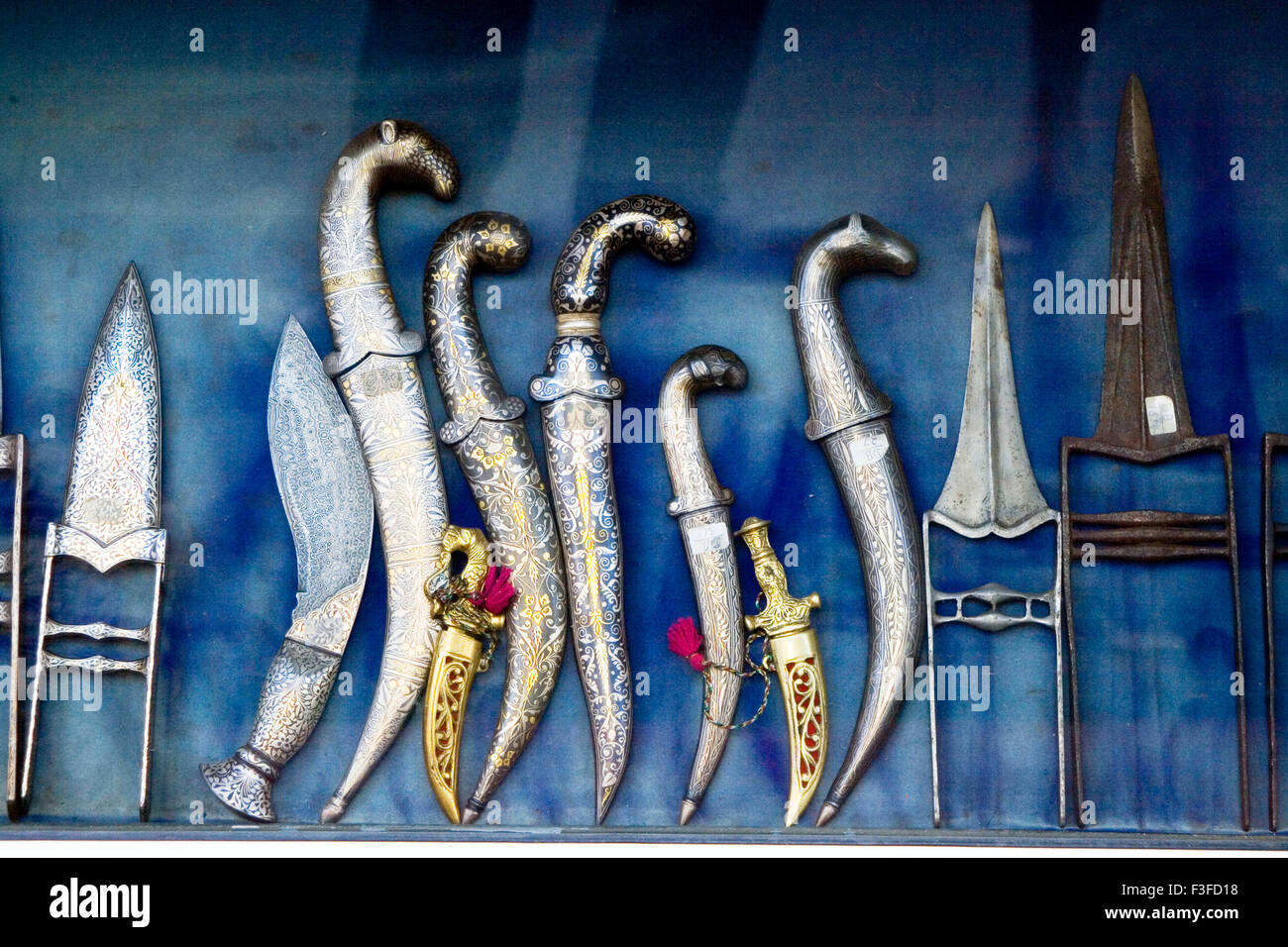 War weapons in Udaipur ; Rajasthan ; India - Stock Image