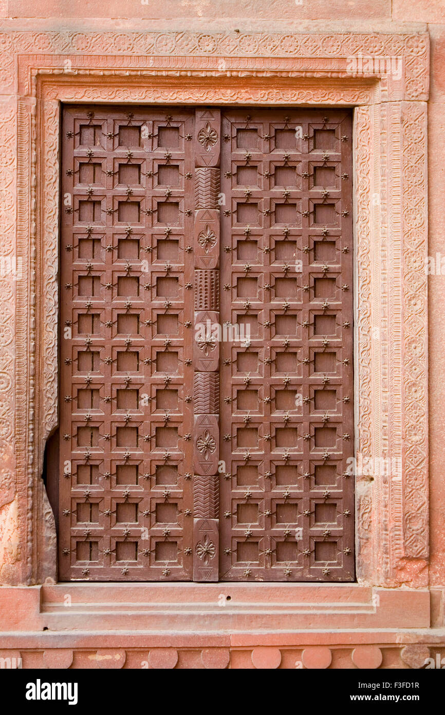 Antique door in Agra ; Uttar Pradesh ; India - Stock Image