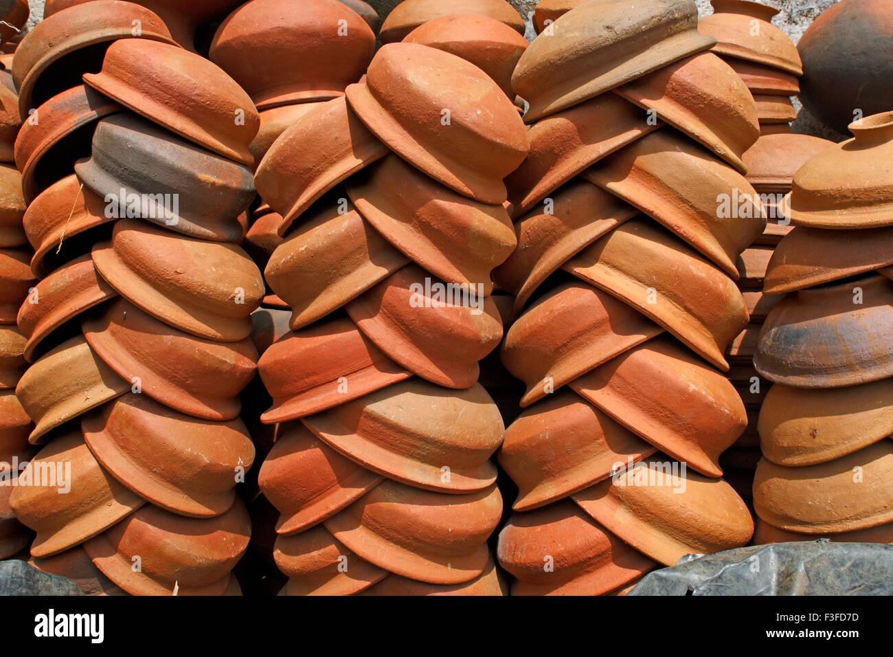 Earthen pot ; Sri Lanka - Stock Image