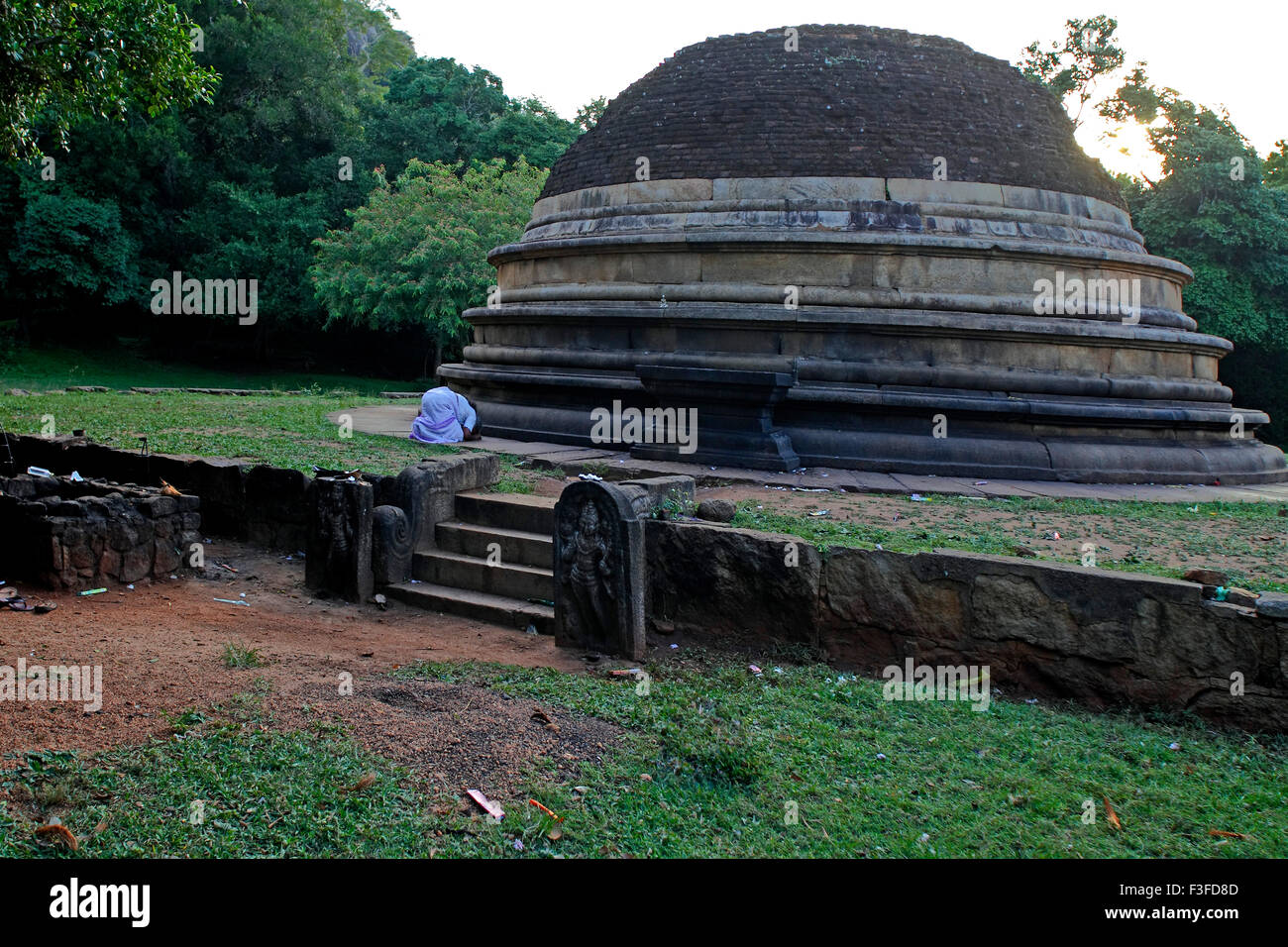 Mihintale 247 bc is regarded as the cradle of Buddhism located near Anuradhapura an ancient city ; Sri Lanka - Stock Image