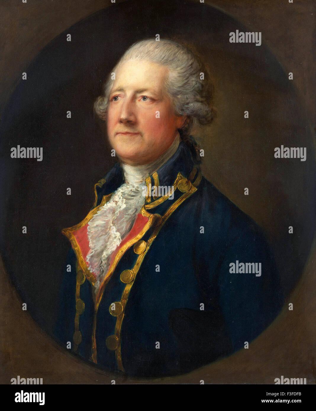 Thomas Gainsboroug - John Hobart, 2nd Earl of Buckinghamshire - Stock Image