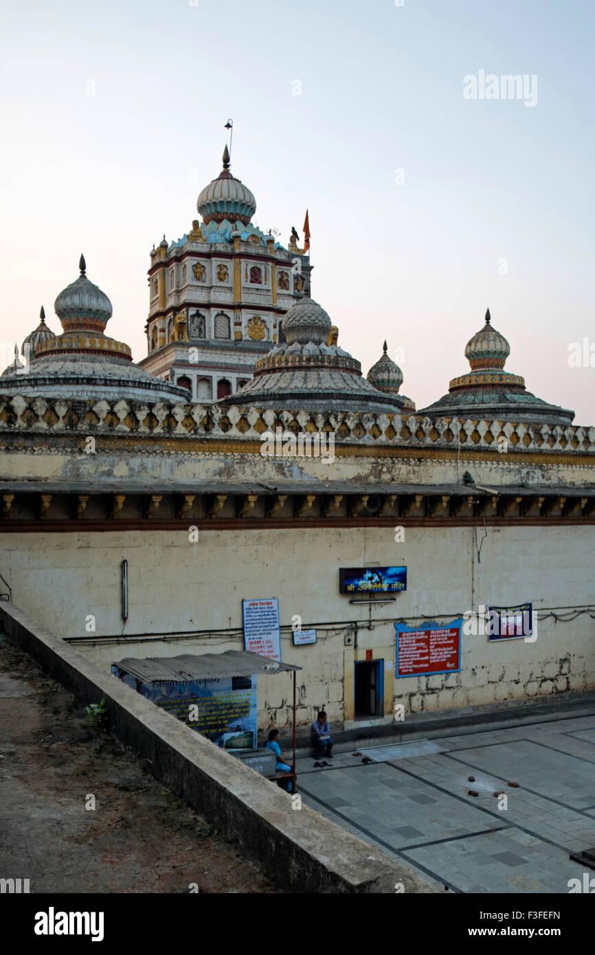 Heritage Omkareshwar temple 1740 to 1760 ; Pune ; Maharashtra ; India - Stock Image