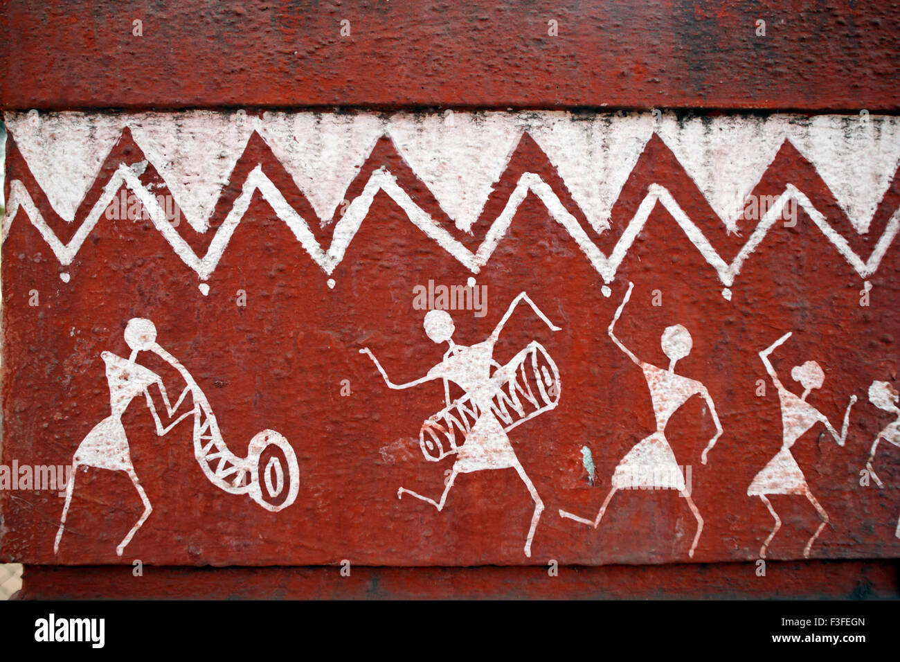 Tribal art warli painting maharashtra india stock photo tribal art warli painting maharashtra india altavistaventures Image collections
