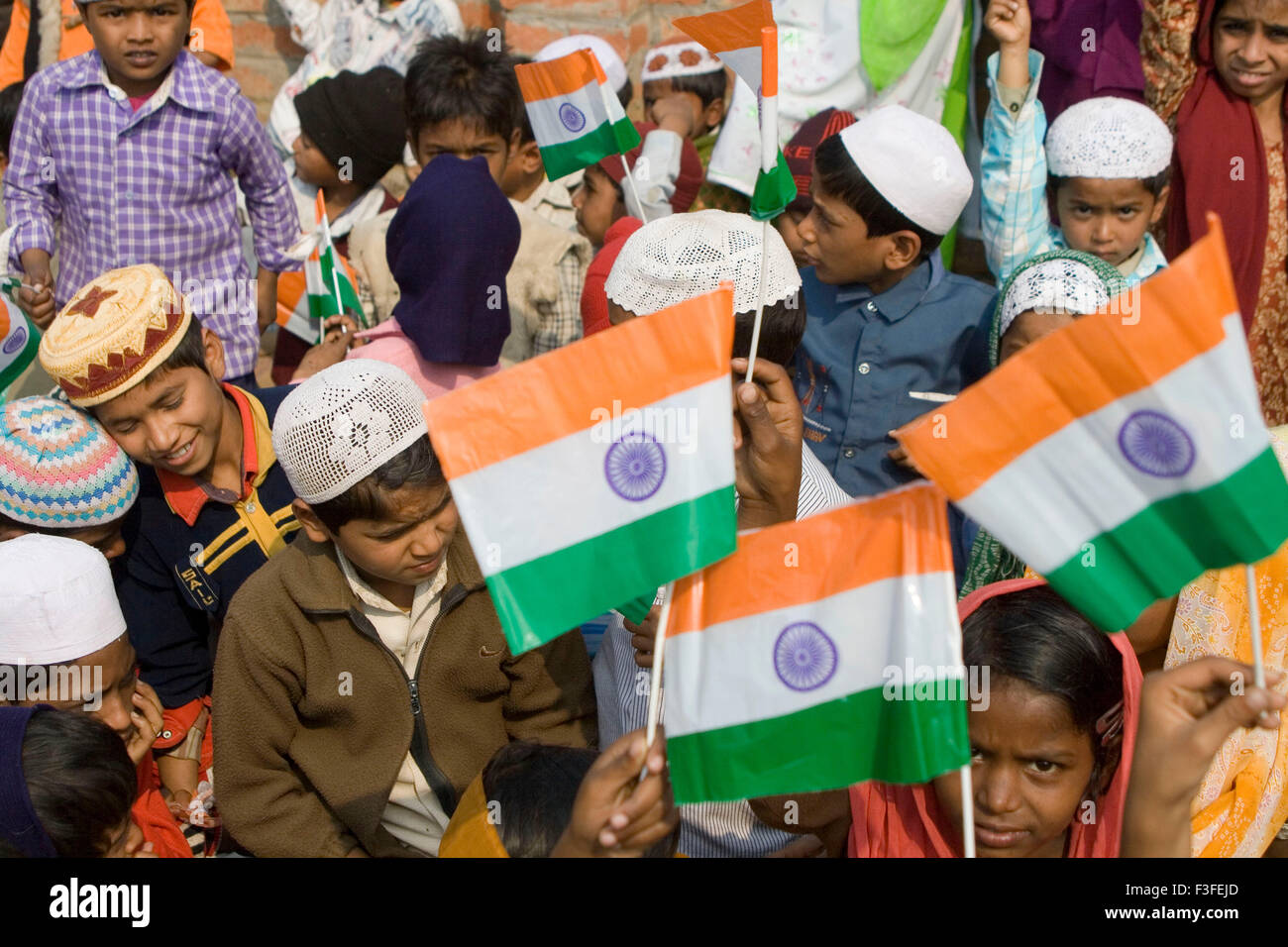 Muslim Children With Indian Flag On Republic Day 26th January In Varanasi Uttar Pradesh India Stock Photo Alamy Happy republic day images 2021 muslim
