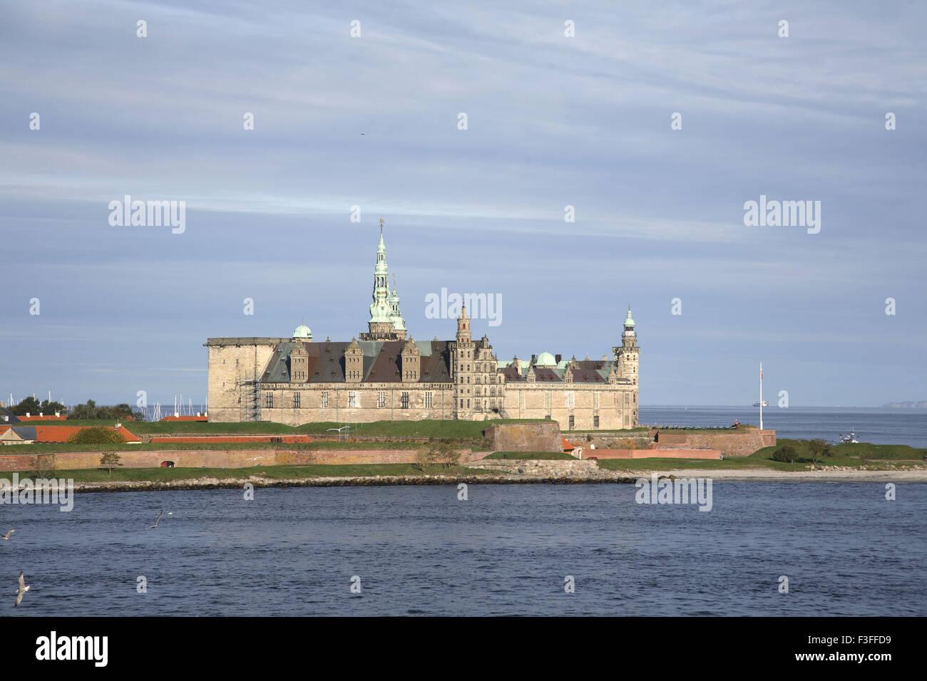Kronborg castle exterior view UNESCO's World Heritage ; Helsingor ; Denmark Scandinavia - Stock Image