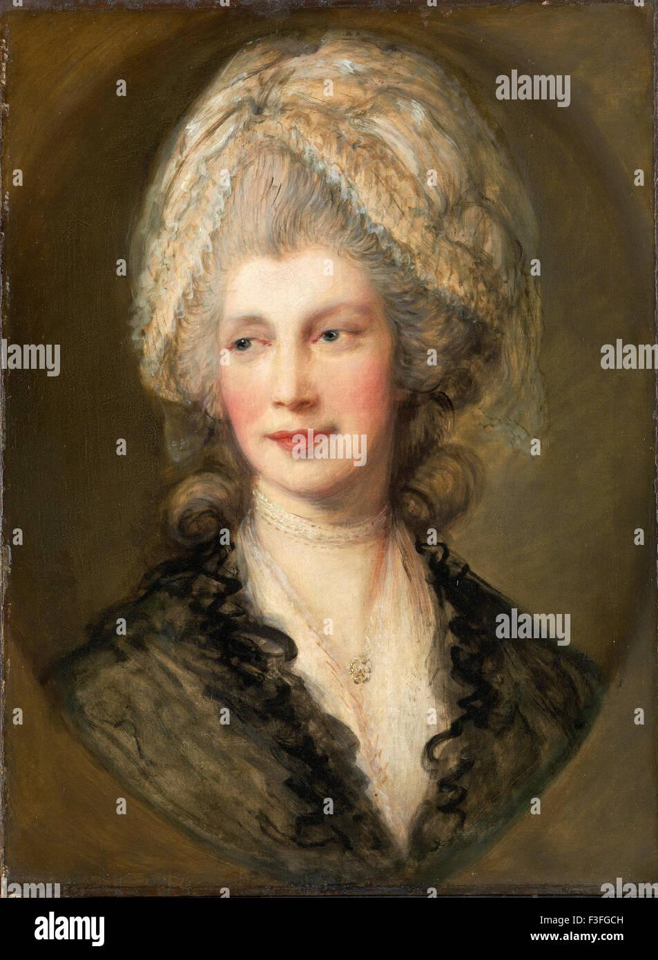 Thomas Gainsboroug - Queen Charlotte - Stock Image
