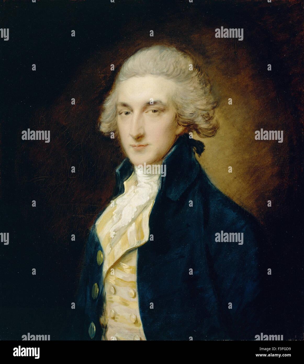 Thomas Gainsboroug - Sir John Edward Swinburne - Stock Image
