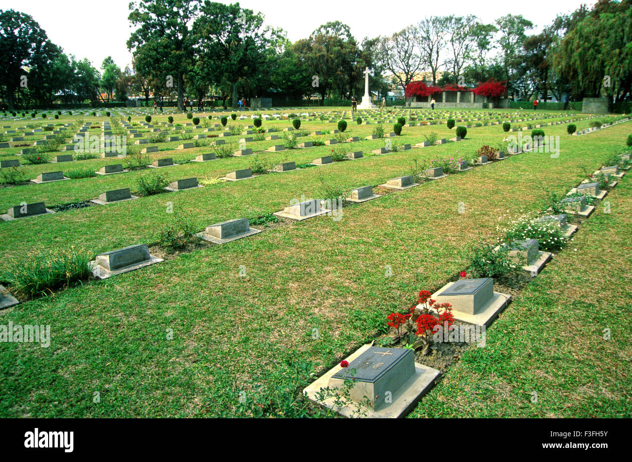 Imphal Second World War Cemetery at Imphal ; Manipur ; North East India ; India - Stock Image