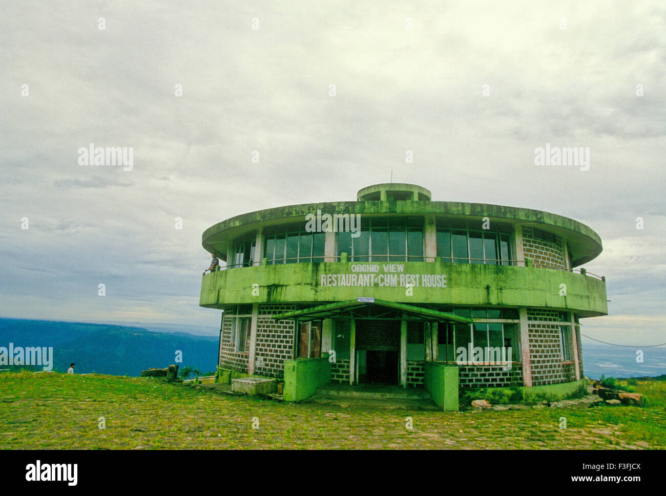 cherrapunjee tourist centre and the wettest place in the world stock