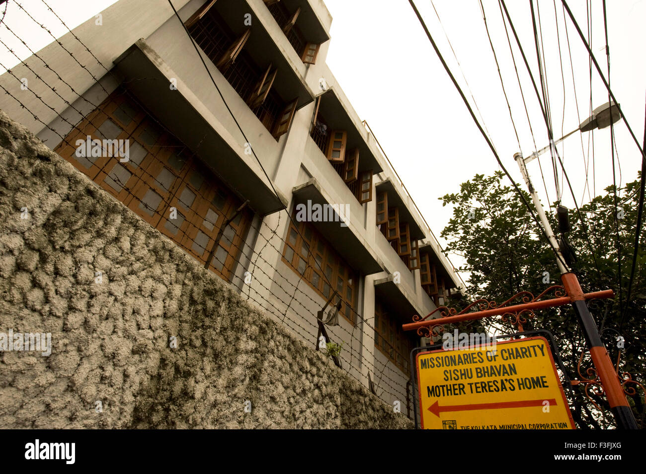 Mother Teresa's House ; A. J. C. Bose road ; HQ of Missionaries of Charity ; Child Centre ; Calcutta ; West - Stock Image