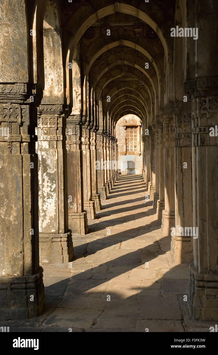 Champaner Pavagadh 15th century ruler Mahmud Begda Jami Masjid complex Archaeological park Champaner Gujarat Stock Photo