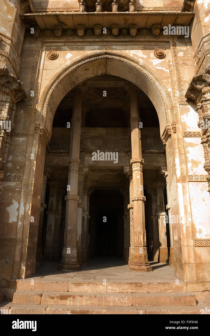 Champaner Pavagadh 15th century ruler Mahmud Begda Jami Masjid complex Archaeological park Champaner Gujarat Stock Photo