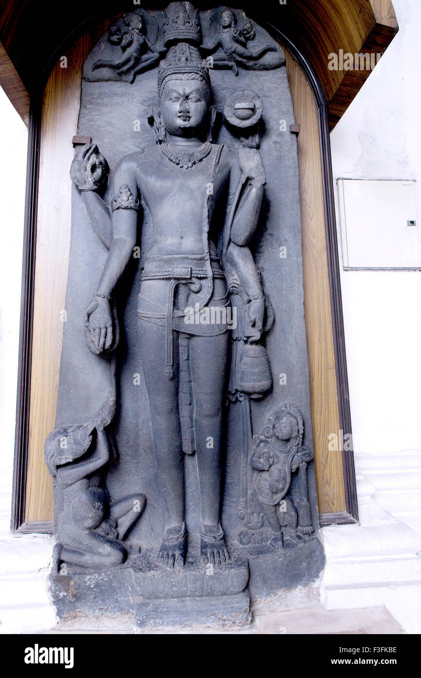 Statue of lord Avalotikeswar of 9th Century at heritage Indian museum building ; Calcutta ; West Bengal ; India - Stock Image