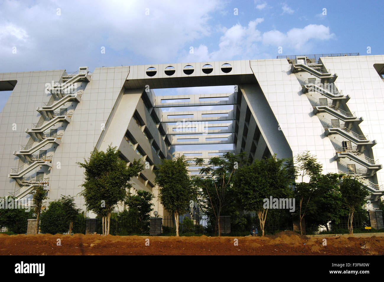 modern buildings at hi tech city in hyderabad andhra pradesh stock